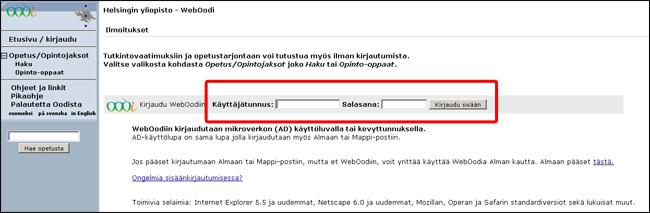 Opintosuoritusote Helsingin Yliopisto